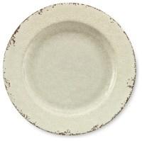 Rustic Melamine Dinner Plates, White - Traditional ...