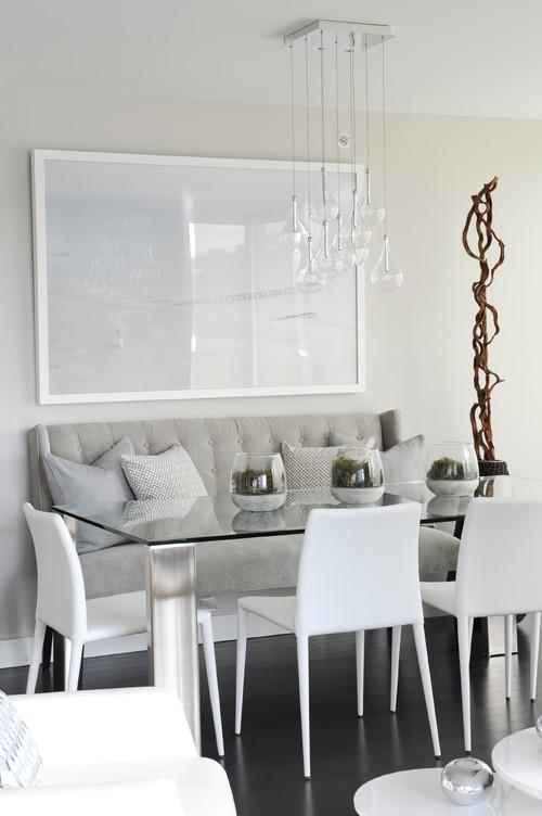 RoyaumeStyleDeco, salle à manger en gris et blanc