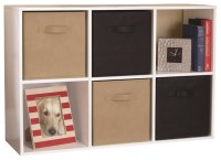 Ameriwood 6-Cube Storage in White Stipple - Transitional ...