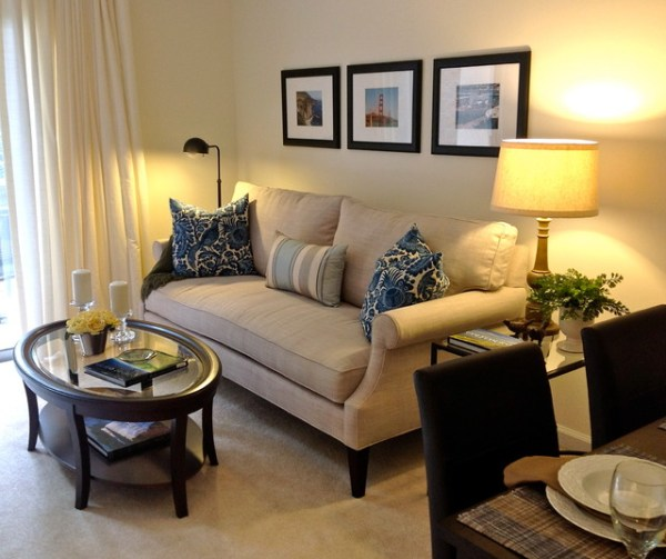 houzz small living room ideas Small Apartment Living - Contemporary - Living Room - raleigh - by Lee Ann Burkhart Interiors