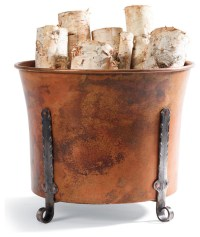 Copper Log Holder - Traditional - Fireplace Accessories ...