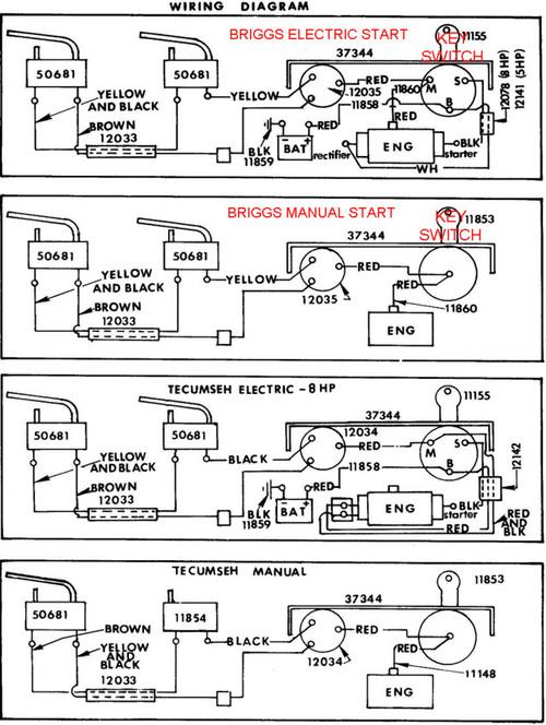 Snapper Rear Engine Mower Wiring