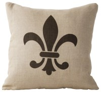 Fleur de Lis Pillow - Eclectic - Decorative Pillows