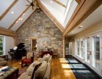 Vaulted Family Room - Traditional - Living Room - dc metro ...