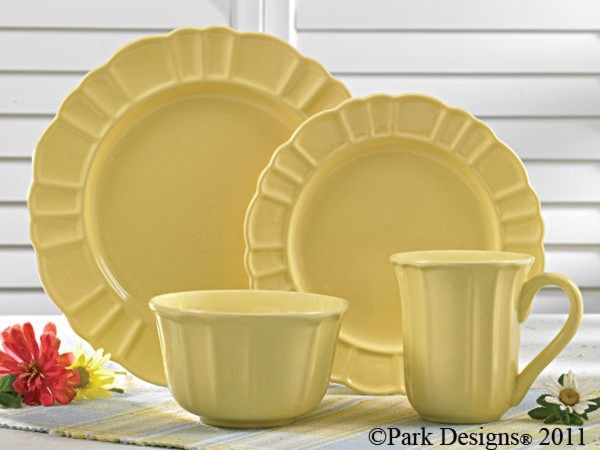 Emily Yellow Ceramic Dinnerware Set