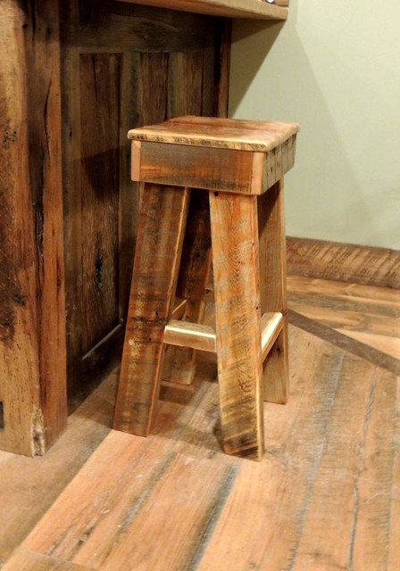 Barnwood Dining Room Furniture  Rustic  Bar Stools And