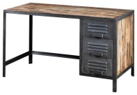 Locker Style Desk Made of Recycled Wood and Industrial ...