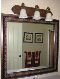 bathroom mirror frame kit
