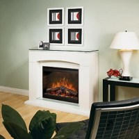 Dimplex Laguna White Electric Fireplace - Contemporary ...
