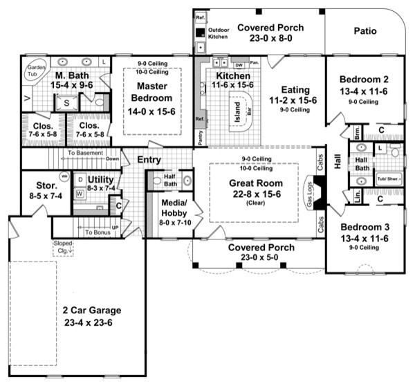 Birmingham House Plans traditional-floor-plan