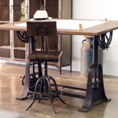 Hanging Chair Restoration Hardware Electric Recliner Chairs Industrial Style Drafting Desks - Eclectic Home Office Los Angeles By Crash Supply