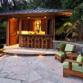 Tropical patio by mill valley landscape architects amp designers
