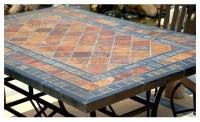 "STONE GARDEN PATIO MOSAIC SLATE TABLE 78""-MAPLE ..."