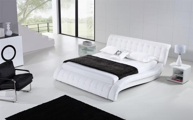 Janni White Modern Leather Bed Frame 89999
