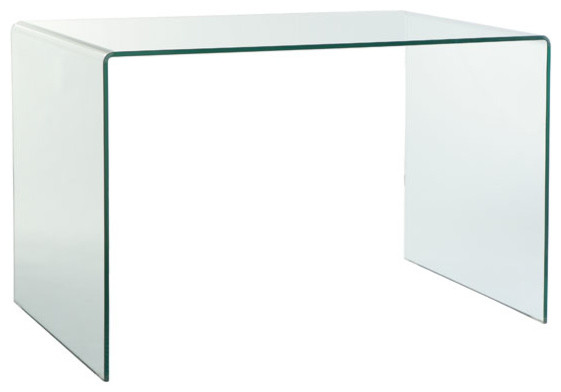 Glass Desk  Modern  Desks And Hutches  by Wisteria