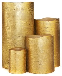 Gold Metallic Flameless Candles - Candles - other metro ...