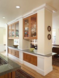 Open Living Room And Kitchen With Dividers | Home Design ...