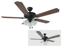 "Oil Rubbed Bronze 52"" Ceiling Fan w/ Light Kit"