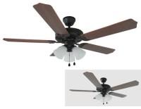 """Oil Rubbed Bronze 52"""" Ceiling Fan w/ Light Kit ..."""