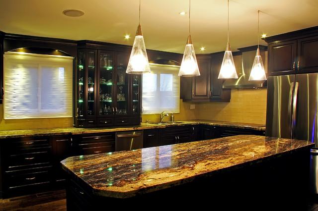 copper kitchen accents tall table sets granite quartzite marble quartz countertops - modern ...