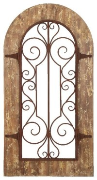 Arch Shape Wood Metal Wall Panel Stately Includes Scroll
