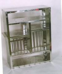 A Medium Stainless Steel Plate Rack