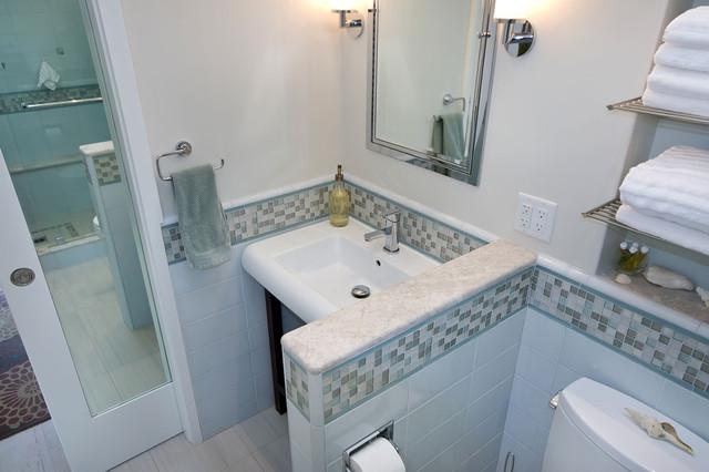 Pocket Door with Mirror  Tropical  Bathroom  san francisco  by Bill Fry Construction  Wm H
