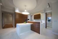 Modern minimalist kitchen with art deco shape ...