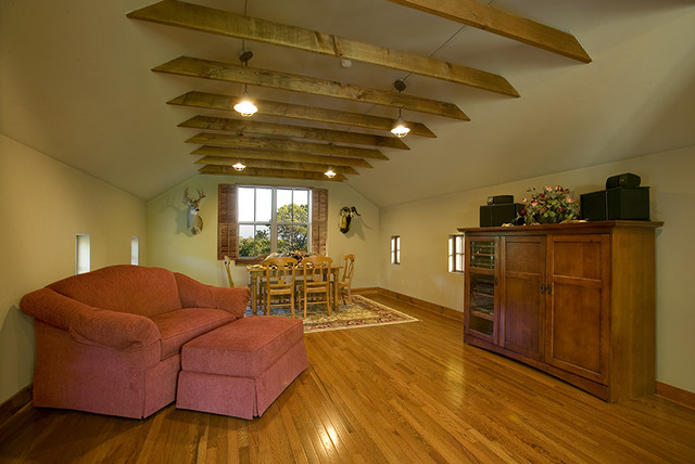 Attic above garage  Traditional  Living Room  other metro  by Boyer Custom Homes Inc