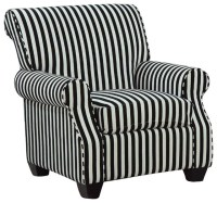 Coaster Club Chair in Black and White Stripes ...