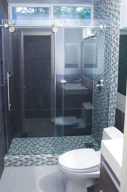 Small Bathroom Layout Remodel  Modern  Bathroom  san