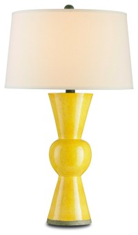 Currey & Company Upbeat Yellow Table Lamp - Modern - Table ...