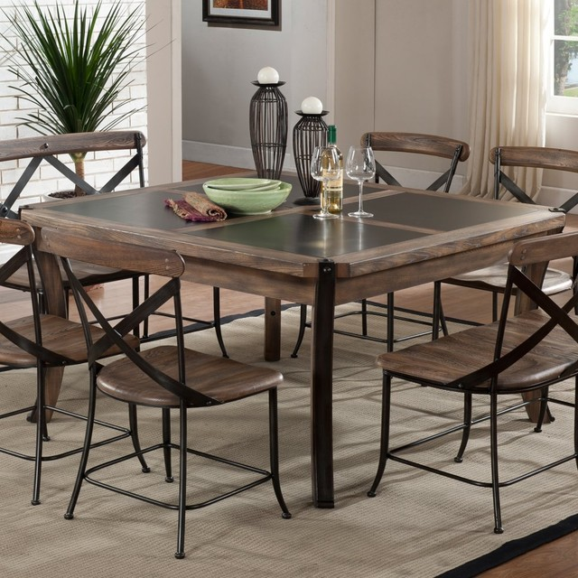 Dining Table Wood And Metal Dining Table