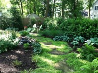 Small Shady Backyard - Traditional - Landscape - new york ...