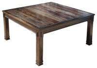 "Rustic Solid Wood Transitional 64"" Square Dining Table for ..."