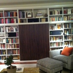 Hanging Kitchen Shelves Small Table Hidden Sherry Theatre Bookcase - Modern Living Room ...