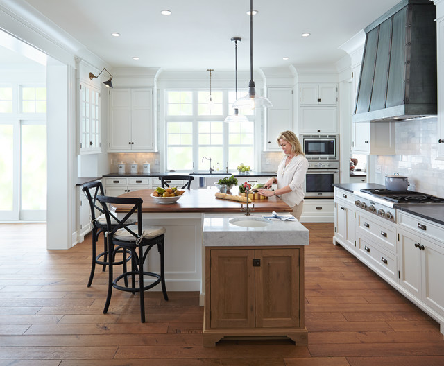 Classical Nantucket Dream Home  Beach Style  Kitchen  minneapolis  by Hendel Homes