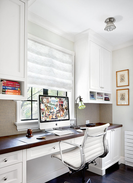 Winnetka Residence traditional home office