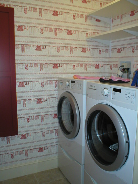 Clothesline  Traditional  Laundry Room  boston  by