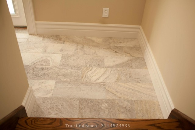kitchen remodeling st louis play kitchens for boys silver travertine entryway - traditional entry ...