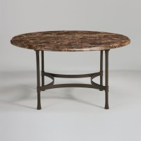 biscayne round dining table with dark marble top ...