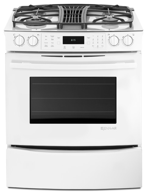 Jenn Air 30 Slide In Gas Downdraft Range Frost White JGS9900CDF Gas Ranges And Electric