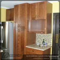 Floor to ceiling wood kitchen cabinets - Traditional ...