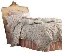 Shabby Chic Twin Comforter Set Blue Flowers Bedding ...
