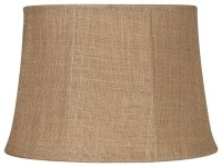 Country - Cottage Natural Burlap Large Drum Lamp Shade ...
