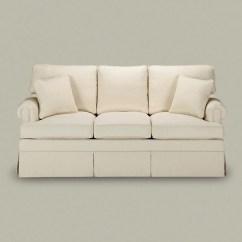 Paramount Sofa Ethan Allen Catnapper Bonded Leather 76