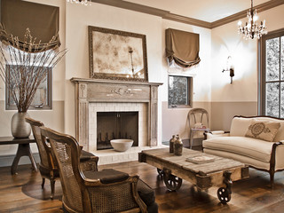 French provencal in Pacific Palisades rustic-living-room