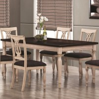 Camille Antique White and Merlot Dining Table ...