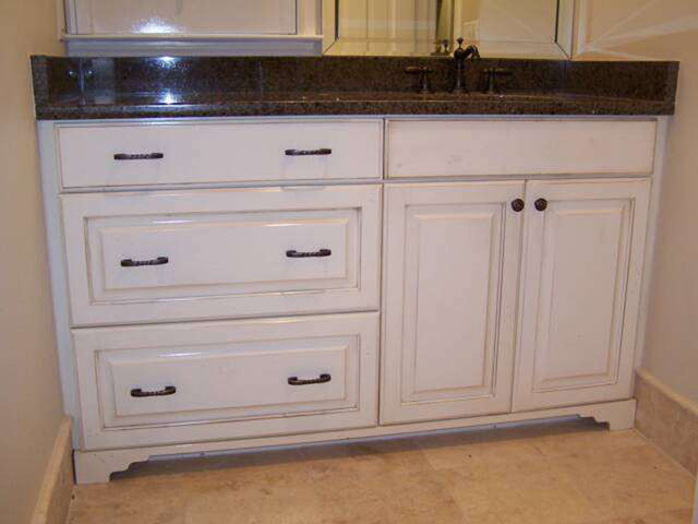 Distressed vanity  Traditional  Bathroom Vanities And