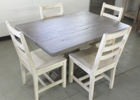 Old oak dining table driftwood finish with reclaimed oak ...